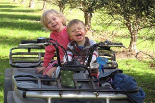 family-enjoying-the-olive-grove-and-quad
