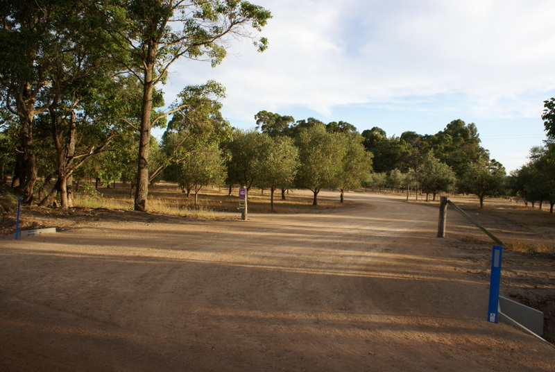 Entrance to Olive Hill Farm RV Campground - turn in off Bramley River Road
