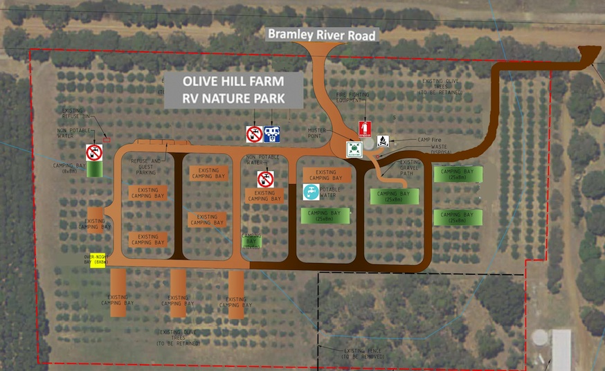 Olive Hill Farm RV Campground Margaret River