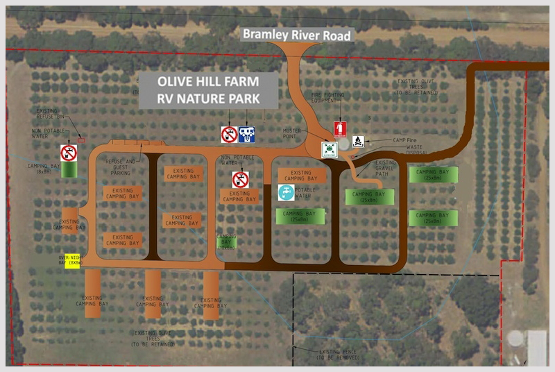 Olive-Hill-RV-Campground-Margaret-River-Site-Plan-March-2018